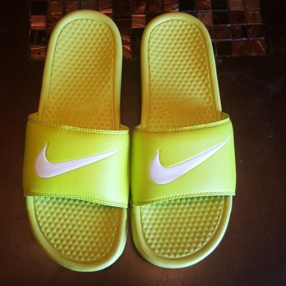 92833915e194 Buy neon green nike slides
